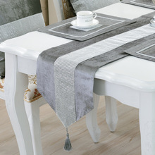 Modern Table Runner Flannel Diamond Table Marriage Runners Chirstmas Decoration Purple Golden Table Runner