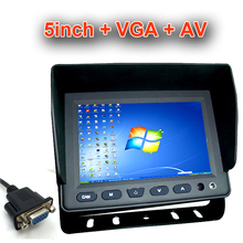 Super HD LCD mini 5inch Vehicle Car Rearview monitor with VGA+AV Car monitor display Family and car use