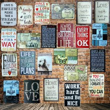 [ Mike86 ] Famous Poem Home Love Family happiness Metal Sign Wall Plaque Poster Custom Painting Room Romantic Decor Art LT-1692(China)