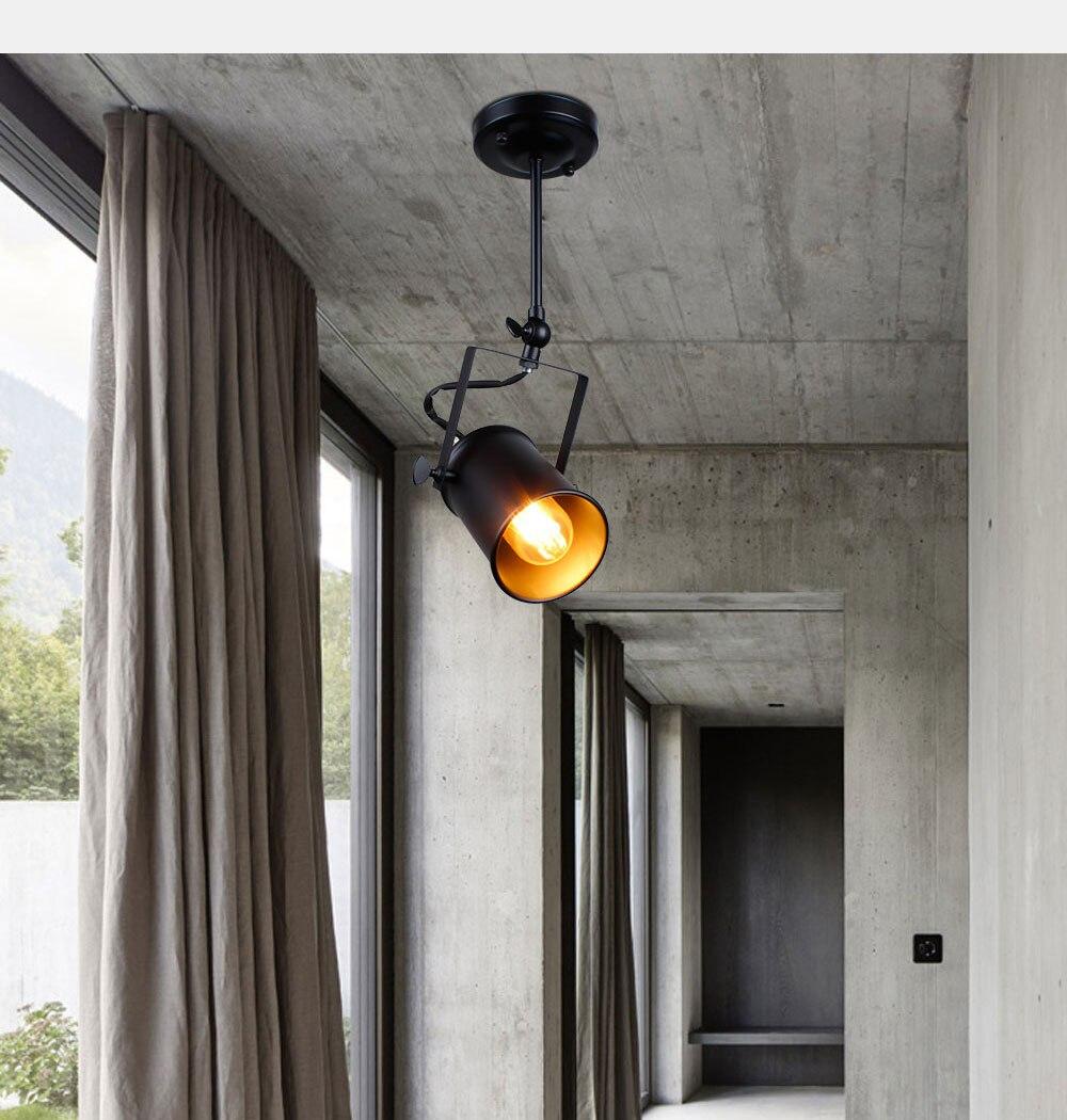 Industrial Pendant Light Vintage Loft pendant light Spotlights American pendant Lamp LED Lamp Restaurant cafe bar decoration 4