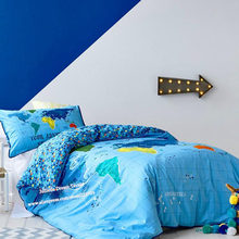 Your Adventure design embroidered duvet cover boy cute quilt cover Children bedroom bedding print bed sheet birthday gift(China)