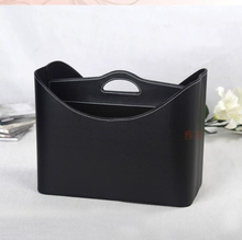 2014 fashion home leather gift basket storage basket for newspaper magazine clothes sundries wine 280A(China)
