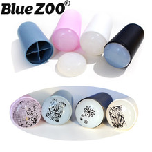 Professional 4 Color Soft Silicone Nail Stamper with Scraper DIY Stamping Nail Printing Tool Stamps for Nails