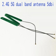 1piece 2.4Ghz 5Ghz dual band antenna 5dbi gain IPEX Connector internal wifi antenna PCB built-in antenna NEW