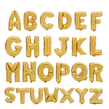 Gold Alphabet Letter Balloons Foil Balloon Birthday New Year Wedding party Decoration custom Name DIY Balloon 17 inch(China)