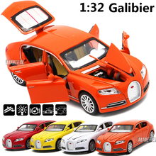 New 1/32 Scale Bugatti Veyron 16C Galibier Alloy Diecast Car Model Toys For Kids Toys Christmas Gift Collection Free Shipping