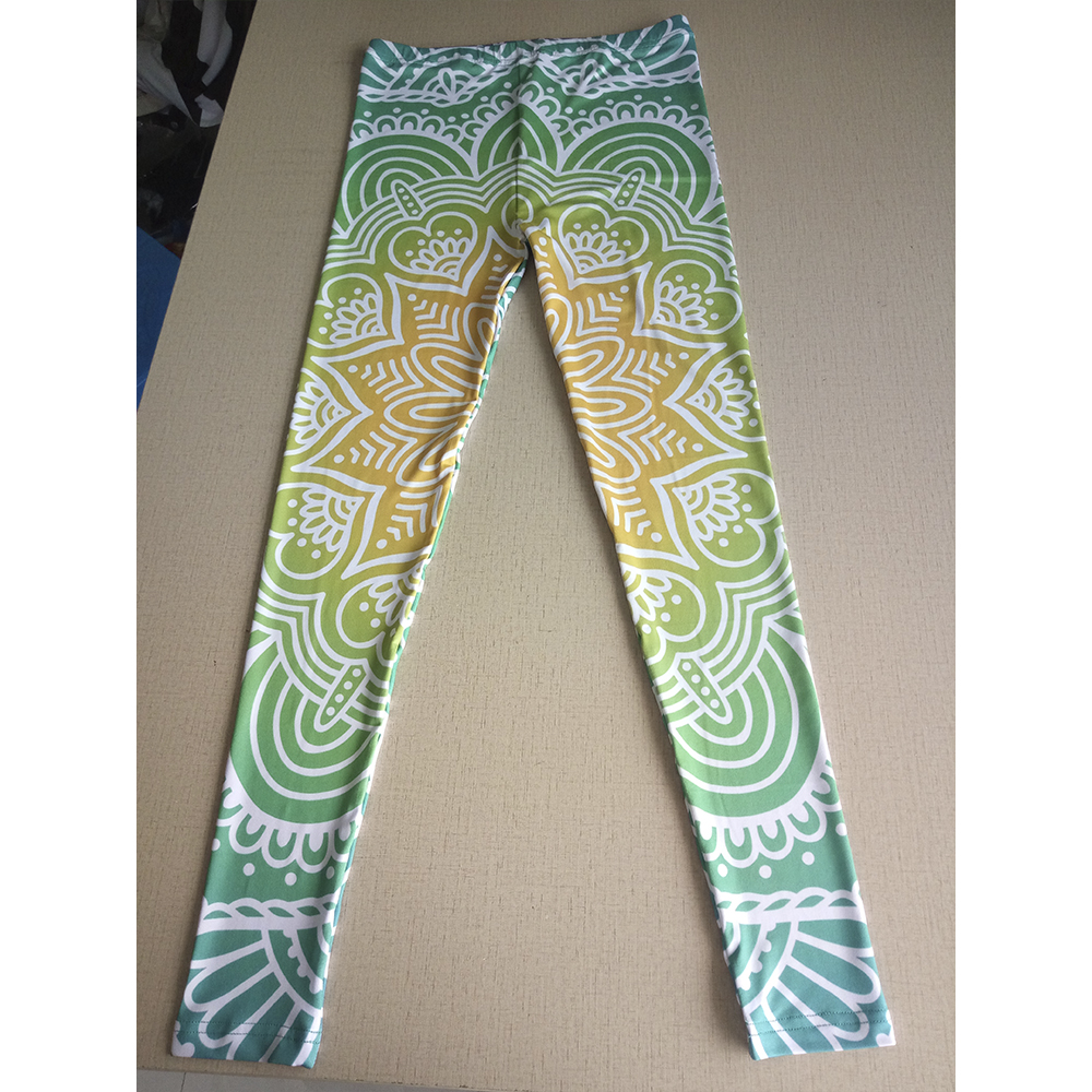 Green Mandala Leggings