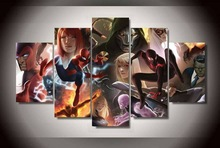 New 5Piece canvas art Printed Comics marvel ultimate captain Painting on canvas room decorations for home poster movie\C-18