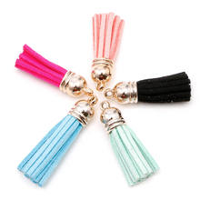 New 10Pcs Colorful Tassel For Keychain Cellphone Straps Jewelry Charm Cap