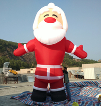 Factory price  giant 5m inflatable Christmas santa large father for Christmas decoration with air blower