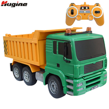 RC Truck 8 Channel 2.4G Tipper Lorry Remote Control Dumper Project Tilting Cart Engineering Electronic Model Hobby Birthday Toys(China)