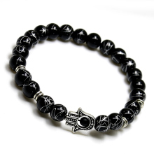 Designer Good Luck Palm Hand eye Natural stone Onyx Bracelet Charm Starfish Bracelets Trendy Classic Bracelets for Men