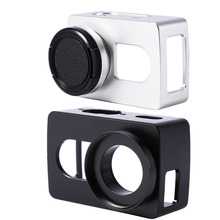 For Xiaomi Yi 4k CNC Aluminum Alloy Frame Case+Lens Protective Cover Without UV Lens For Sport Action Video Cameras Accessories