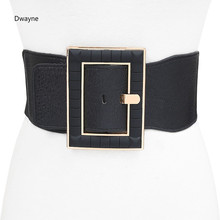 Buy Vintage Metal Buckle Elastic Waist Belt Women Super WIde Black Fashion Dress Belt Ladies Elastic Stretch Waistband for $12.08 in AliExpress store