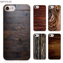 BINYEAE wooden wall Clear Cell Phone Case Cover for Apple iPhone 4 4s 5 5s SE 5c 6 6s 7 Plus