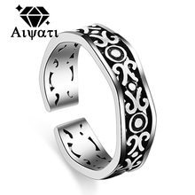 Thailand Silver Jewelry Rings Vintage Rope Design 925 Silver Ring Women