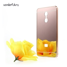 Wonderfultry Coque for Redmi Note 4X Slide-on Mirror-like PC Back Case with Metal Frame Rim for Xiaomi Redmi Note 4 X Cover Capa