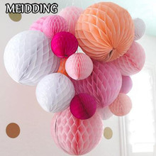MEIDDING-10pcs/lot Tissue Paper Flower ball Honeycomb Lantern Wedding/baby shower/birthday decoration Holiday supplies Wholesale