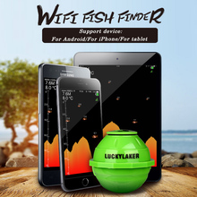 125KHz Smart Sonar Wireless Wi-Fi Fishfinder 50M Depth Fish Finder Fish Detector for IOS for Android Wireless Signal Amplifier