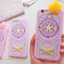 Magic Cartoon Card Captor Sakura Lightning Stars Phone Case Iphone6/6s/7/7plus Silica Gel Sheath Girls digital accessory