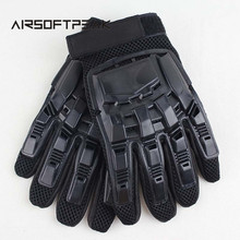 Tactical Full Finger Assault Gloves Army Airsoft Paintball Military Shooting Combat Gloves Hunting Cycling Leather Gloves(China)