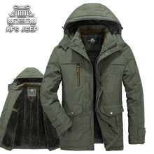 Loose Winter Snow Hooded Men Jackets Plus Size 6XL New 2016 Brand AFS JEEP Original  Warm Thick Fleece Windbreaker Casual Coats