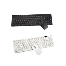 New 2.4G Multimedia Wireless Mouse and Keyboard Set for Windows7/8 / XP/ Vista Dropshipping(China)