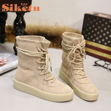 SIKETU New Fashion Women Winter Boots 35-39 Fur Snow Boots Women Ankle Boots Heels Winter Shoes  Fashion Warm Shoes