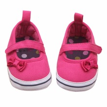 Sweet First Walkers Infant Baby Girls Bow knot Soft Sole Pre walker Hook and Loop Crib Shoes