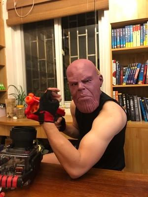 Thanos Cosplay Mask & Gauntlet Take Control of Your Infinity Saga Universe 17