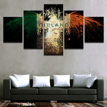 Canvas Oil Fashion Painting Wall Art Poster 5 Panel Eagle Abstract Framework Modular Pictures For Living Room Home Decor