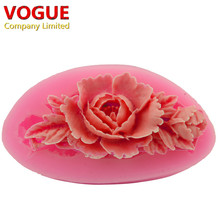 Kawaii 3D Silicone Flower Mold for Cake Decoration Fondant Moulds Bakeware Soap Jelly Candy Tools  N1963