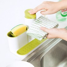 Kitchen Draining Rack Detergent Box Sponge Holder Dish Storage Rack Sink Self Bathroom Organizer Stands Soap Jewelry Rack