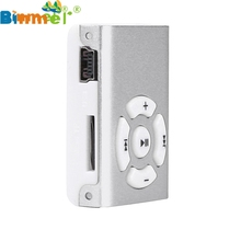 Factory Price Binmer Mini Clip Mirror Sport MP3 Player Micro SD TF Card Music Media New Free Shipping Good Quality