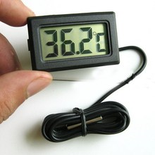 LCD Digital Thermometer Hygrometer Temperature Humidity Meter Gauge With Clock New Weather Station