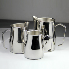 FeiC 1pc 350ml/550ml/750ml Motta style  Stainless Steel Milk Pitcher/Jug Milk Foaming Jug/Teflon for Barista latte art