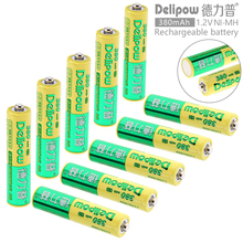 Delipow 10pcs AAA 1.2V 380mAh High Energy Ni-Mh LSD Rechargeable Battery with Safety Relief Valve for Toys / Cameras / Headlamps
