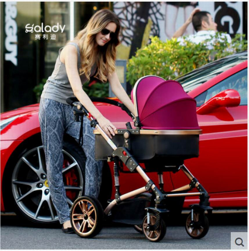 2016 Good quality Sld baby stroller baby light folding ploughboys easy control sit and lie 4runner two-way shock absorbers<br><br>Aliexpress