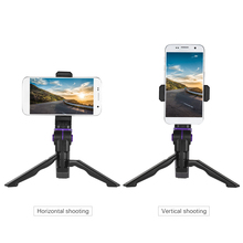 Andoer Universal Mini Tripod Phone Stand Handheld Grip Stabilizer with Clip Holder Bracket for iPhone for Samsung Galaxy S7/S6(China)