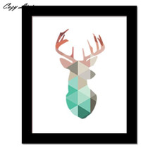 30x25CM Wallpaper Sticker Bedroom Small Geometric Coral Deer Head Canvas Art Print Poster Wall Stickers Home Decoration D14
