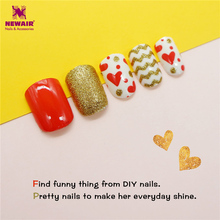 Buy BlingBling Children False Nail Tips Heart Pattern Pre-glue Full Cover Press Kids Fake Nails Art Safety for $2.38 in AliExpress store