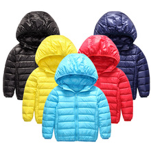 New Winter Duck Down Jacket For Boys Girls Jackets Light Coat 2-10Y Children's Down Jacket Kids Clothes Outdor Hooded Coat SC138