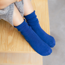 1-9y 2016 Autumn baby cotton socks kids boy and girl knee high Cotton Socks children leg warmer Solid C807(China)