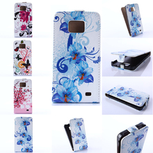 For Galaxy S2 Case Colorful Flower Butterfly Flip Cover Case PU Leather phone Cases Cover For Samsung Galaxy S2 i9100