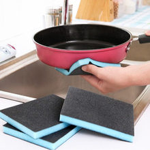 Useful Nano Emery Magic Sponge Carborundum Cleaning Brush Window Grooves Removing Rust grease stains Cleaner Kitchen Accessories