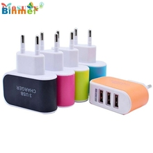 Binmer Good Quality 3.1A Triple USB Port Wall Home Travel AC Charger Adapter For S6 EU Plug Free Shipping Jan MotherLander