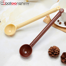 BalleenShiny Coffee Spoon with Bag Sealing Clip Seasoning Spoon 2 in 1 Measuring Scoop Milk Powder Tea Ice Cream Cooking Spoon(China)