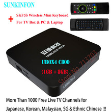IPTV UNBLOCK UBOX UBOX4 C800 1GB/8GB & UBOX3 Gen.3 512MB/8GB Android TV Box & Malaysian Korean Japanese Chinese TV Live Channels(China)