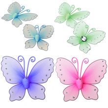 New Arrival 2PCS Butterfly Mesh Design Window Curtain Tie Back DIY Colorful Tieback Hold Clips For Curtain Accessories 4 Colors