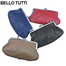 BELLO TUTTI Genuine Leather Mini Coin Purse For Women Girls Casual Natural Sheepskin Metal Frame Wallet Change Money Bag Purse(China)